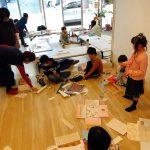 福岡市南区にある学び舎しおらぼで算数を織り交ぜた図形工作を行いました、算数・数学が苦手な子専門の個別指導塾の数楽の家もここを借りています、