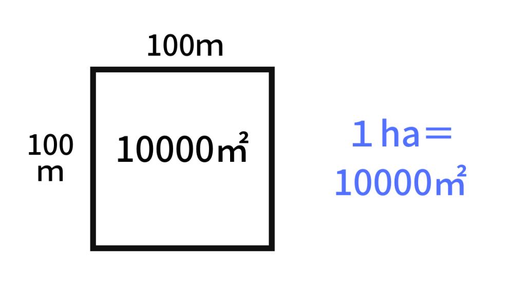 1ha(ヘクタール)は何平方メートル?算数数学で出てくる正方形の面積の大きさです。意味や由来、どれくらいの広さなのか? 1aや1haなどの単位の覚え方、教え方を具体例を混ぜながらわかりやすく解説します。